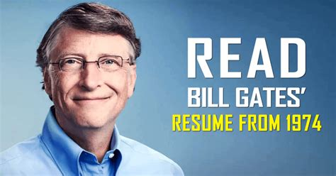 Resume Of Bill Gates by This Is Microsoft Co Founder Bill Gates Resume From 1974