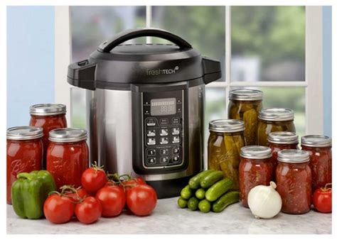 freshtech automatic home canning system food in jars