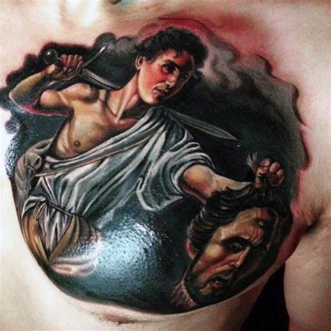 david and goliath tattoo 100 christian tattoos for manly spiritual designs