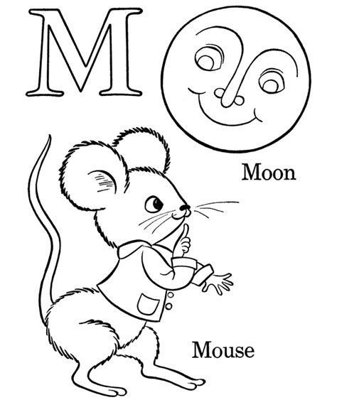 kindergarten coloring sheets letter m farm alphabet abc coloring page letter m homeschool