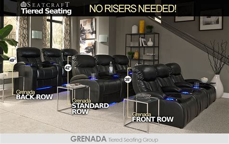 Theater Home Decor by Seatcraft Tiered Home Theater Seating Without Risers