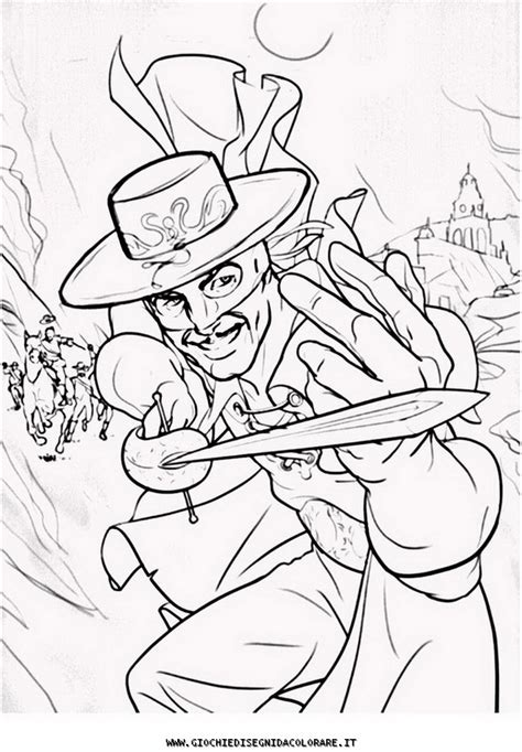 coloring pages zorro zorro disney colouring pages