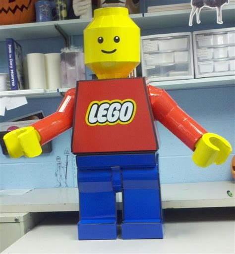 How To Make A Paper Lego - lego minifig