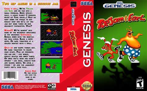 toejam and earl sega genesis retro daze gameboxart site