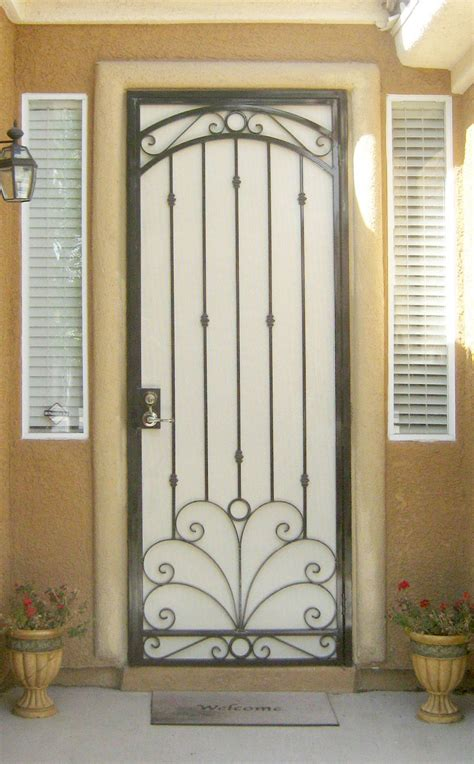 Security Gate For Front Door Wrought Iron Security Gate Front Door Nucleus Home