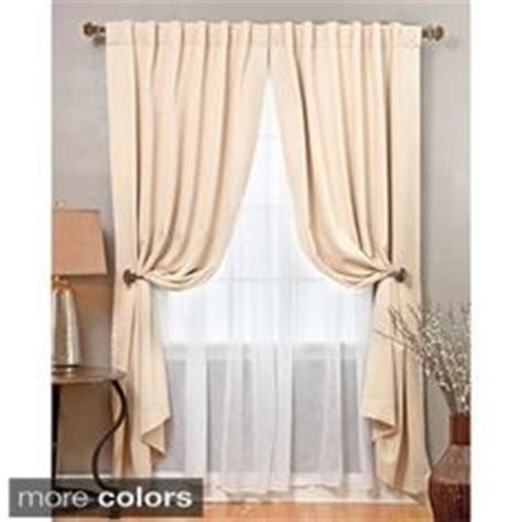 sheer curtains behind drapes can i hang sheers behind drapes without a double curtain rod