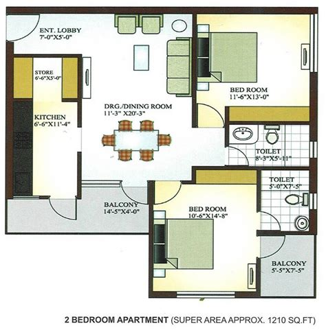 28 2 bhk apartment floor plans 2 bhk house plan as two bedroom apartment plan 3 bedroom apartment floor plans