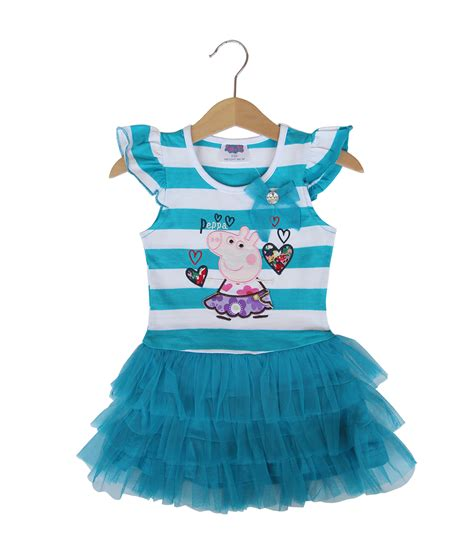 Dress Lengan Cut Out peppa tutu stripe dress blue size 2 3t 3 4t small