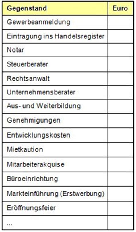 Excel 2010 F Uuml gr 252 ndungskosten buchen checkliste und anwendungsbeispiel