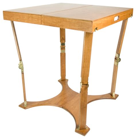 Portable Folding Table With A Warm Oak Finish Portable Coffee Table