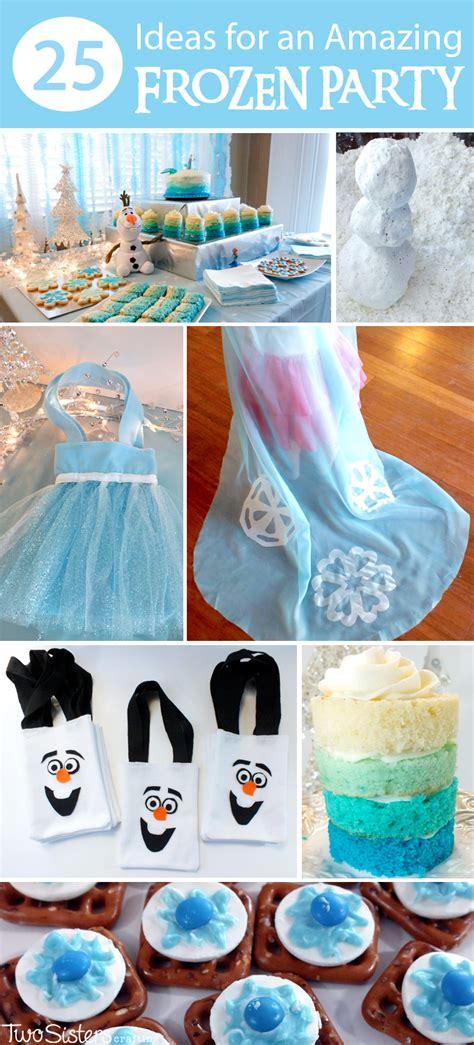 ideas   amazing frozen party  sisters