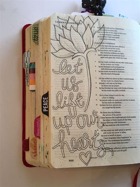 lift up your journaling bible faith lamentations and