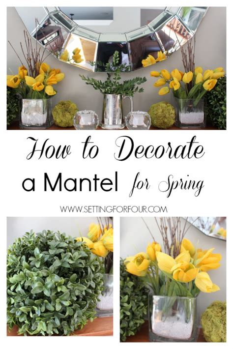 diy spring decorating ideas how to decorate a mantle for spring setting for four