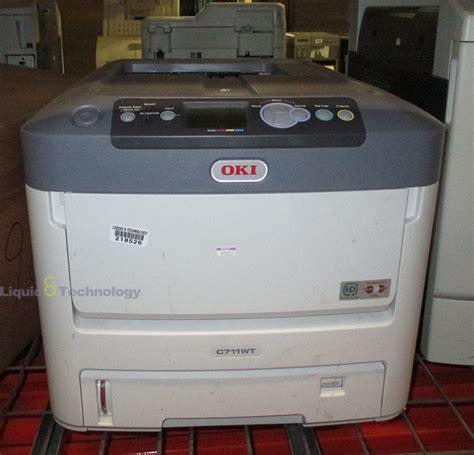 Printer Oki C711wt oki c711wt white toner transfer printer n31194a ebay