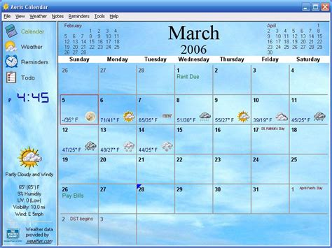 Desktop Calendar Windows Desktop Calendar With Events Software Aeris