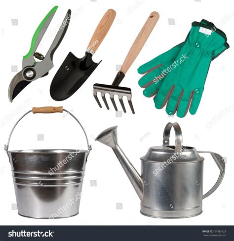 Gardening Tools Isolated On White Background Stock Photo 101983123   Shutterstock