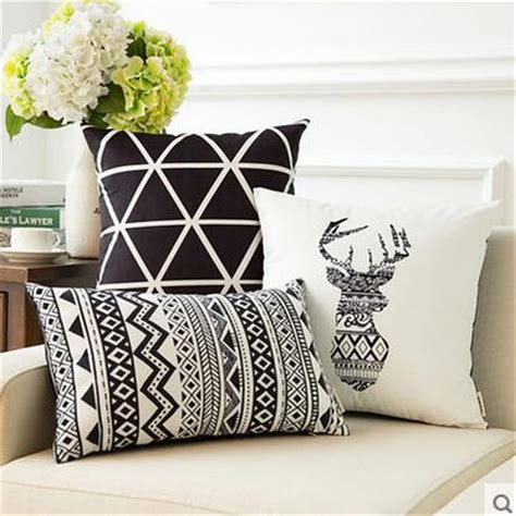 black and white bench cushion nordic style sofa cushion simple geometric home decor