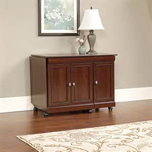 Sauder Sewing Armoire Sauder Deluxe Sewing And Craft Cart Cherry Finish