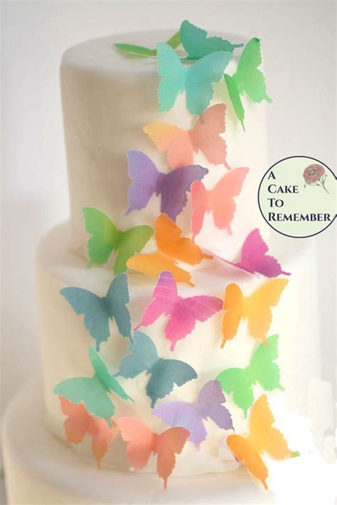 butterfly cookies butterfly cakes wafer paper tutorial edible butterflies 24 watercolor wafer paper butterflies