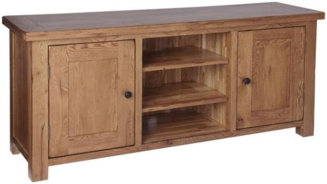 Oak Tv Cabinet With Doors Ridgeway Oak Large Cabinet