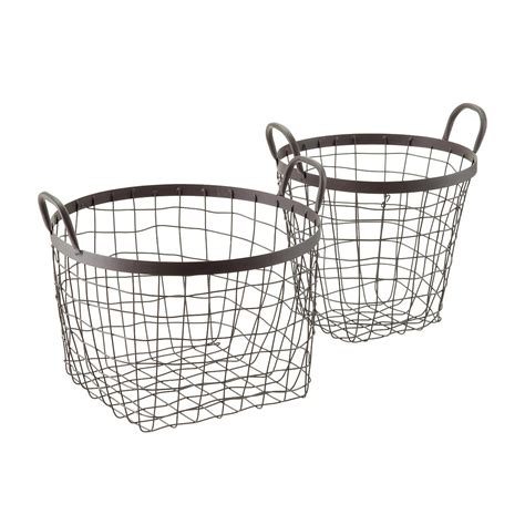 Decorative Storage Baskets by Rustic Decorative Storage Baskets With Handles The