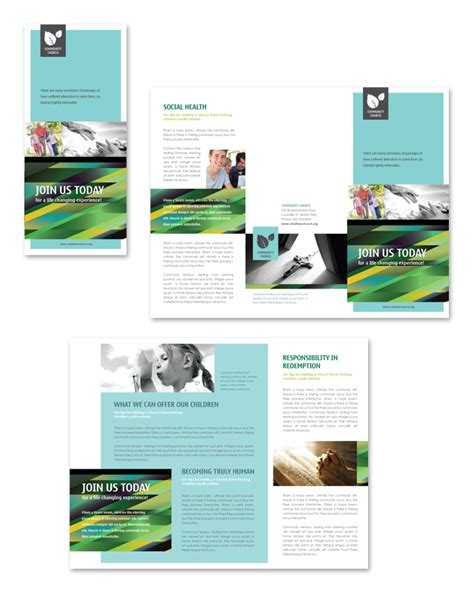christian brochure templates christian community tri fold brochure template