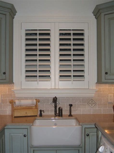 kitchen window shutters interior custom plantation shutters kitchen home