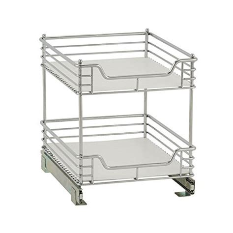 2 tier cabinet organizer chrome two tier sliding cabinet organizer in pull out baskets