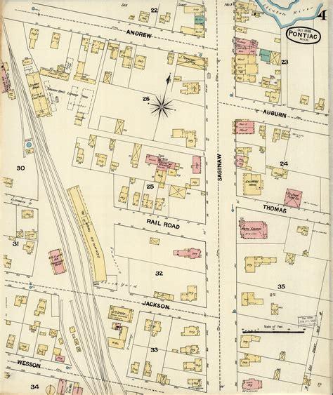 map of pontiac michigan sanborn maps pontiac michigan pontiac history