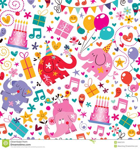 pattern birthday cute happy birthday pattern royalty free stock images image