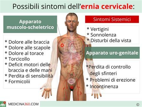 formicolio alla testa ernia cervicale sintomi