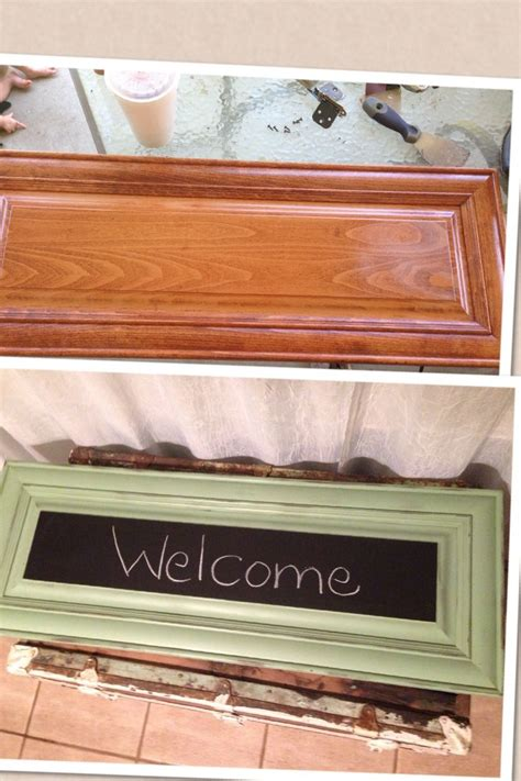 new cabinet doors on old cabinets old cabinet door new chalkboard craft ideas pinterest