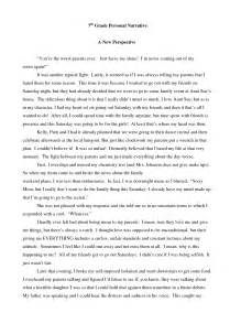 Written Narrative Essays by A Written Narrative Essay