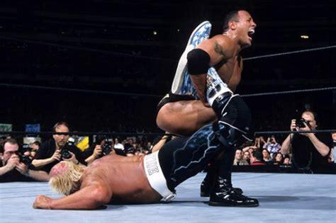 dwayne the rock johnson vs hulk hogan my favorite wrestlemania match hulk hogan vs the rock