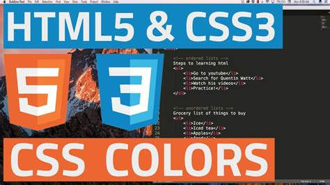 html5 colors html5 and css3 beginner tutorial 15 css colors