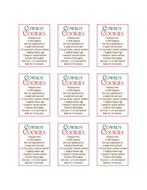 printable cookie jar recipes 8 best images of cookie jar labels printable free free