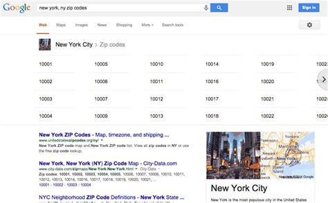 Search By Zip Code Adds Zip Code Matches In Knowledge Graph Carousel