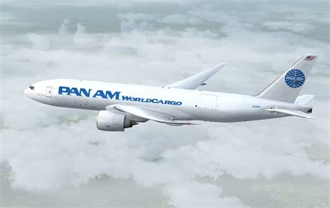 pan am pan am cargo boeing 777 fnt n596pa for fsx