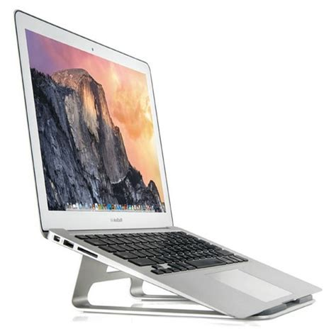 Laptop Apple Jakarta apple metal deluxe stand holder for macbook silver