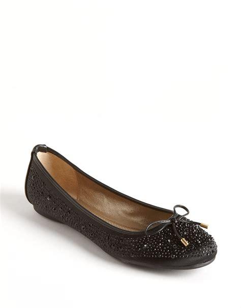 adrienne vittadini flat shoes adrienne vittadini cathi studded ballet flats in black lyst