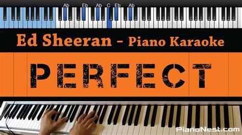 ed sheeran perfect guitar instrumental ed sheeran perfect lower key piano karaoke sing