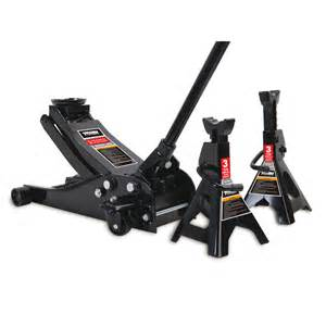Weight Lifting Decorations Shop Torin Floor Jack With Stands At Lowes Com