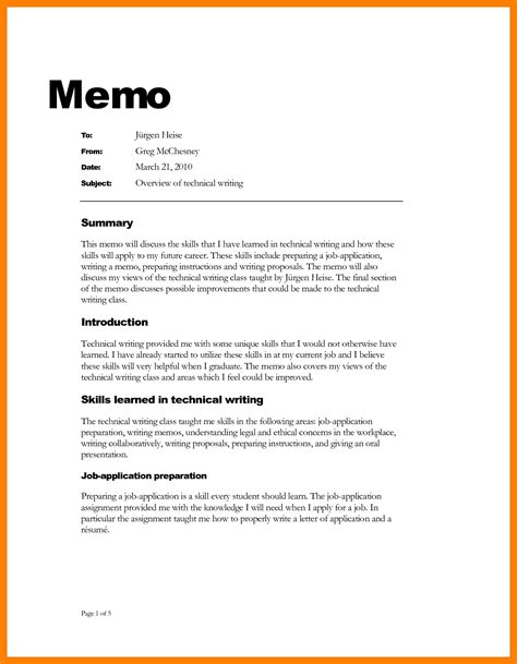 4 how to write a professional memo emt resume