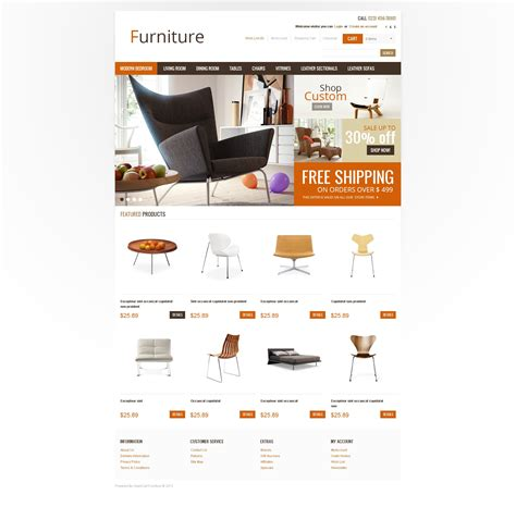 office furniture templates home office furniture opencart template 41030