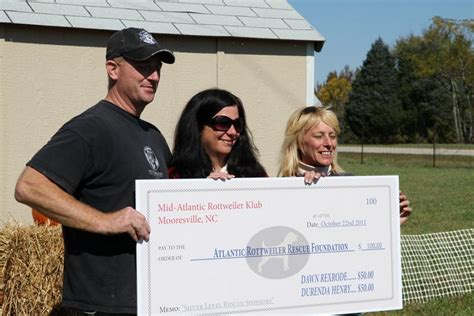 rottweiler rescue foundation donation to atlantic rottweiler rescue foundation