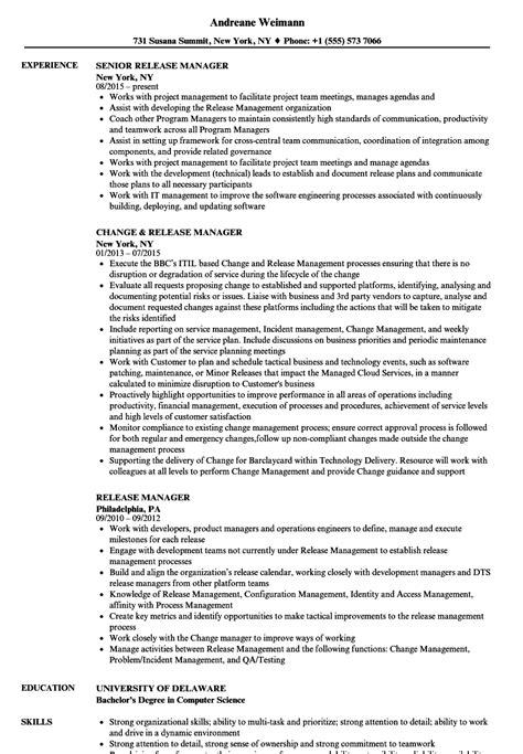 release manager resume sles velvet jobs