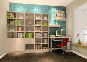 study room ideas with blue wallpaper 3d house