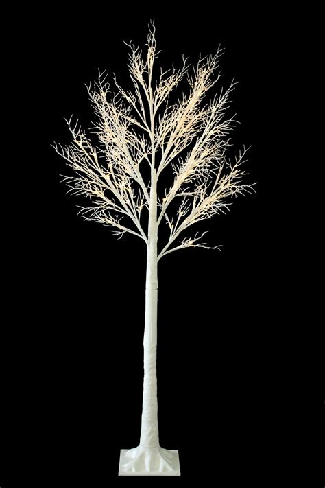 6ft white led tree 6ft twig tree pre lit 120 led warm white lights indoor outdoor use ebay