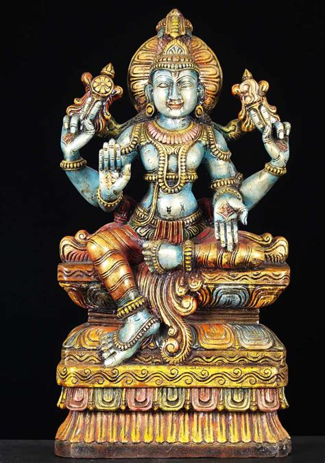 buddha statues or sculptures buddhist statue and hindu sold wooden vishnu hindu sculpture 24 quot 65w13x hindu