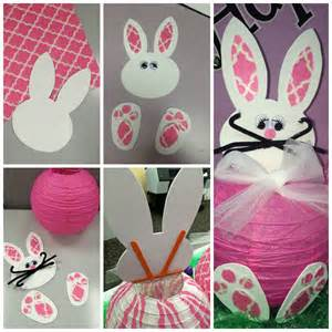 Hanging Paper Flowers Diy - diy spring decorations paper bunny lantern